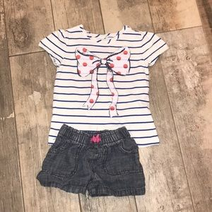 Cute girls outfit shorts and top size 4